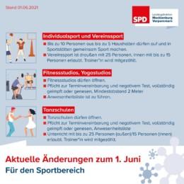 Lockerungen Sport Fitnessstudio Tanzschulen 01 06 2021