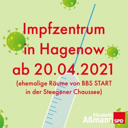 Eroeffnung Impfzentrum Hagenow 20 04 2021